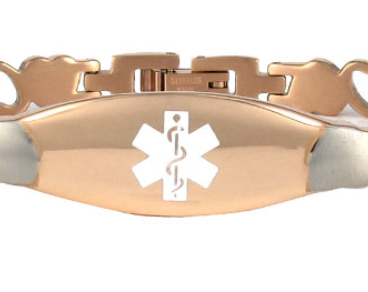 Stealth Heart Link Stainless Steel Medical Id Bracelet