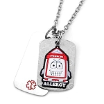 Dairy Allergy AllerMates Double Tag Necklace