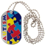 Autism Awareness Puzzle Piece ID Necklace