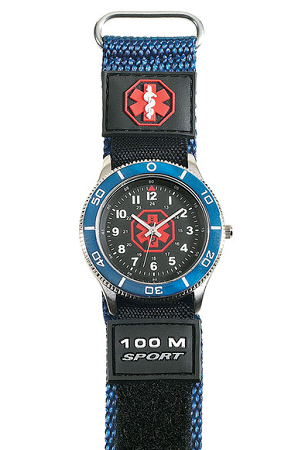Men S Medical Id Blue Fast Wrap Sport Watch Elegant
