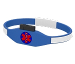 CARExcel USB Medical History Bracelet - Blue and White