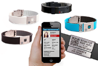 QR Code Medical ID Bracelets