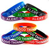 Rubber Medical Bracelets - Medic Alert, Medical ID, Medical