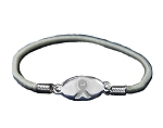 Diabetes Awareness Silver Stretch Charm Bracelet