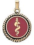 Braided Medical ID Pendant in 14K Yellow Gold - 20mm