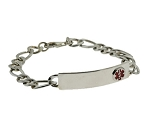 Men's Sterling Silver Medical ID Bracelet