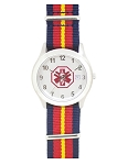 Men's Nato Medical ID Watch - Red Blue Yellow Stripe