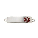 Medical ID Tag for Custom Bracelets - Sterling Silver