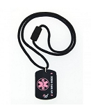4id Sports Medical Identification Dog Tag Necklace - PINK