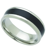 Wedding Band Stainless Steel 8mm Ring