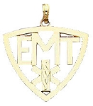 Emergency Medical Technician EMT Charm Pendant in Yellow Gold