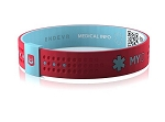 MyID Sport Medical Bracelet - Coral Red and Baby Blue