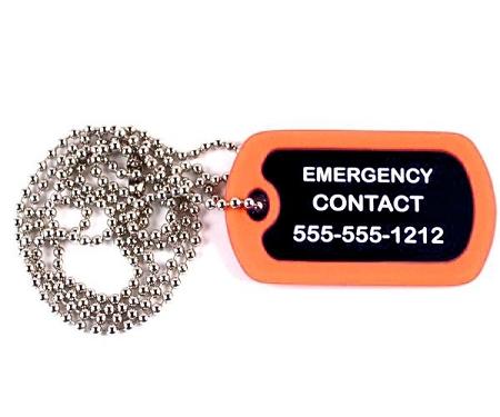 Epilepsy Epileptic Medical Alert Dog Tag Necklace Or