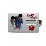 Key 2 Life® EMR Medi-Chip USB Wallet Card - 8GB