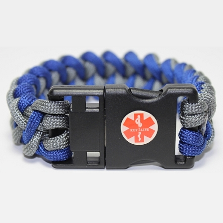 Key 2 Life 174 Emr Medi Chip Usb Paracord Bracelet