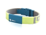 MyID Medical Bracelet - Sleek - Bright Green and Blue