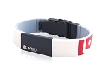 MyID Medical Bracelet - Sleek - White and Red