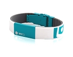 MyID Medical Bracelet - Sleek - Light Gray and Turquoise