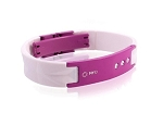 MyID Luxe Medical Bracelet - White and Magenta