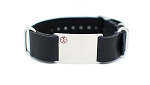 Nato Leather Medical ID Bracelet - Black
