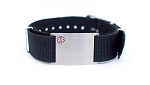 Nato Medical ID Bracelet - Black