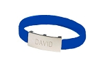 Design Your Own Silver or Gold Personalized ID Bracelet - Rectangular