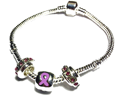 Lupus Awareness Silver Dangling Charms Bracelet