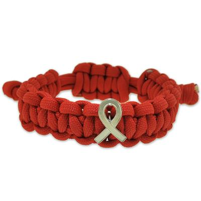Heart Disease Awareness Paracord Bracelet