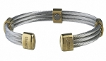 Trio Cable Stainless Gold Sabona Magnetic Bracelet