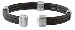 Trio Cable Black Satin Stainless Sabona Magnetic Bracelet
