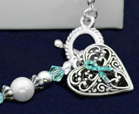 Scleroderma Awareness Silver Hope Strength Courage Charm