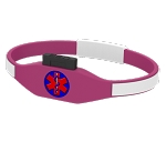 CARExcel USB Medical History Bracelet - Pink and White