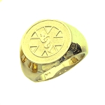 Mens 10K or 14K Yellow Gold Medical ID Alert Ring