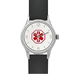 Women's Medical ID Black Silicone Band Watch