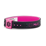 MyID Sport Medical Bracelet - Black and Pink