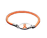 Multiple Sclerosis Awareness Silver Stretch Charm Bracelet