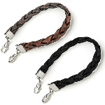 Braided Leather Bracelet for My ID Squid Squares and Medical ID Plaques