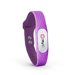 MyID Hive Medical ID Bracelet - Purple