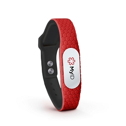 MyID Hive Medical ID Bracelet - Red