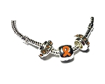 Multiple Sclerosis Awareness Silver Dangling Charms Necklace