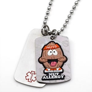 Tree Nut Allergy Allermates Double Tag Necklace