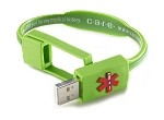 Care USB Medical History Bracelet - Green