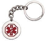 Stainless Steel Medical ID Keychain