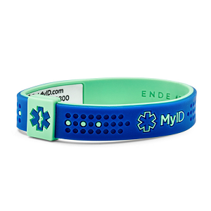 MyID Sport Medical Bracelet - Navy and Turquoise