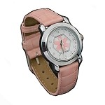Women's Medical ID Watch with Pink Leather Band