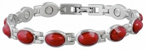 Women's Red Turquoise Sabona Magnetic Bracelet