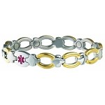 Women's Sabona Magnetic Medical ID Bracelet - DIABETIC