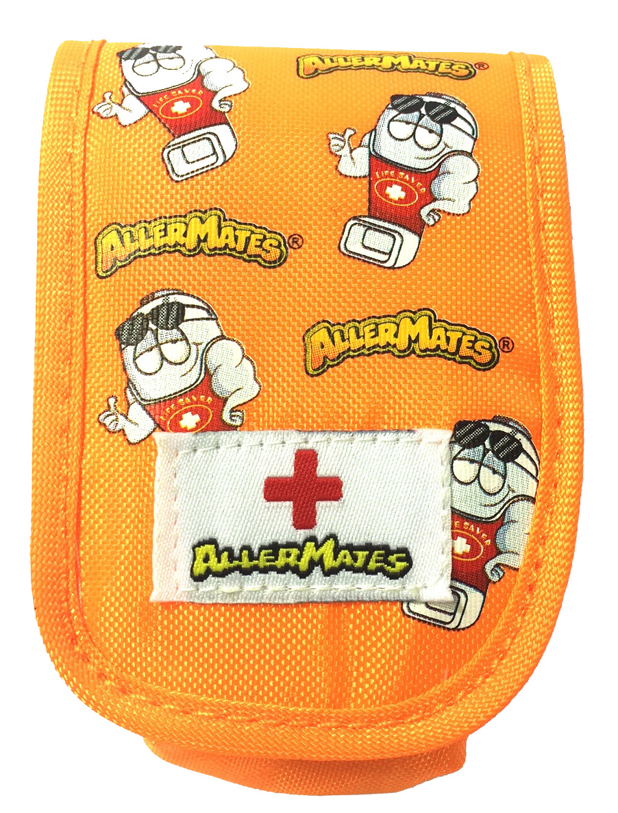 AllerMates Small Medicine Case for Asthma Inhalers and More - Orange