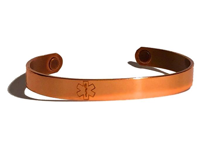 Copper Sabona MAGNETIC Medical ID Bracelet - CUSTOM