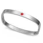 Stainless Steel Medical ID Bangle Bracelet